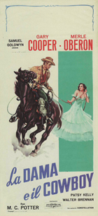 The Cowboy and the Lady - 13 x 28 Movie Poster - Italian Style A