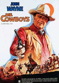 The Cowboys - 27 x 40 Movie Poster - German Style A
