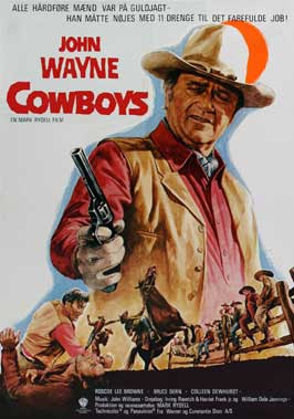 The Cowboys - 27 x 40 Movie Poster - Danish Style A