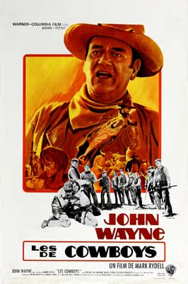 The Cowboys - 11 x 17 Movie Poster - French Style B
