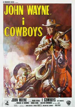 The Cowboys - 11 x 17 Movie Poster - Italian Style A