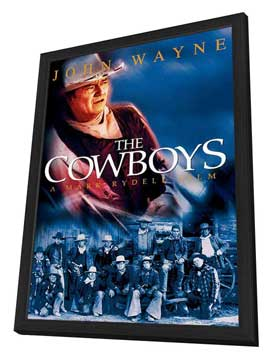 The Cowboys - 11 x 17 Movie Poster - Style C - in Deluxe Wood Frame
