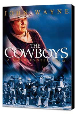 The Cowboys - 11 x 17 Movie Poster - Style C - Museum Wrapped Canvas
