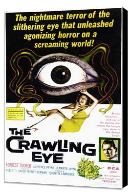The Crawling Eye - 11 x 17 Movie Poster - Style A - Museum Wrapped Canvas