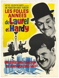 The Crazy World of Laurel and Hardy - 11 x 17 Movie Poster - French Style A