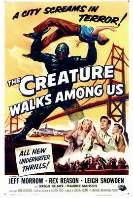 The Creature Walks among Us - 27 x 40 Movie Poster - Style A