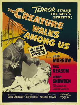 The Creature Walks among Us - 27 x 40 Movie Poster - Style B