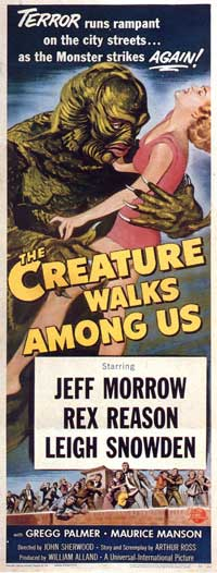 The Creature Walks among Us - 14 x 36 Movie Poster - Insert Style A