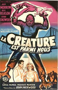 The Creature Walks among Us - 27 x 40 Movie Poster - French Style A