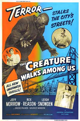 The Creature Walks among Us - 27 x 40 Movie Poster - Style E