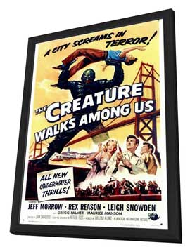 The Creature Walks among Us - 27 x 40 Movie Poster - Style A - in Deluxe Wood Frame