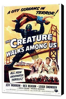 The Creature Walks among Us - 27 x 40 Movie Poster - Style A - Museum Wrapped Canvas