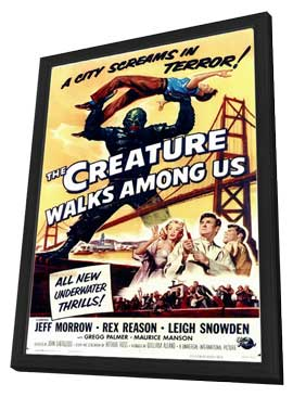 The Creature Walks among Us - 11 x 17 Movie Poster - Style A - in Deluxe Wood Frame