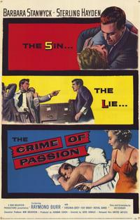 The Crime of Passion - 11 x 17 Movie Poster - Style A