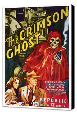 The Crimson Ghost - 27 x 40 Movie Poster - Style A - Museum Wrapped Canvas