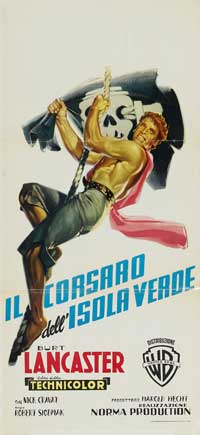 The Crimson Pirate - 13 x 28 Movie Poster - Italian Style A