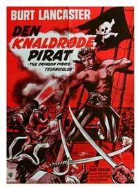 The Crimson Pirate - 11 x 17 Movie Poster - Danish Style A