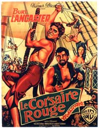 The Crimson Pirate - 11 x 17 Movie Poster - French Style B