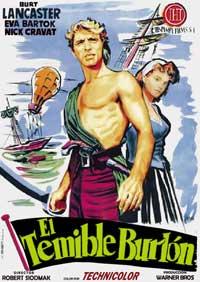 The Crimson Pirate - 11 x 17 Movie Poster - Spanish Style B