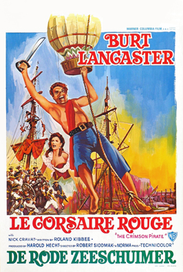 The Crimson Pirate - 27 x 40 Movie Poster - Belgian Style A