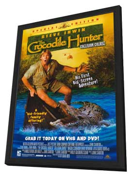 The Crocodile Hunter: Collision Course - 11 x 17 Movie Poster - Style B - in Deluxe Wood Frame
