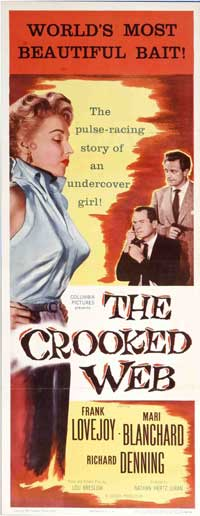 The Crooked Web - 14 x 36 Movie Poster - Insert Style A