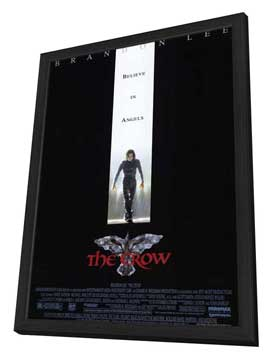 The Crow - 11 x 17 Movie Poster - Style A - in Deluxe Wood Frame