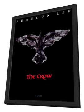 The Crow - 11 x 17 Movie Poster - Style D - in Deluxe Wood Frame
