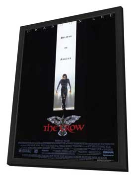 The Crow - 27 x 40 Movie Poster - Style A - in Deluxe Wood Frame