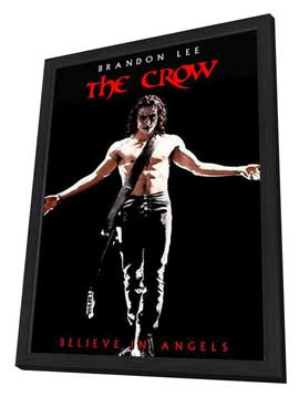 The Crow - 27 x 40 Movie Poster - Style E - in Deluxe Wood Frame