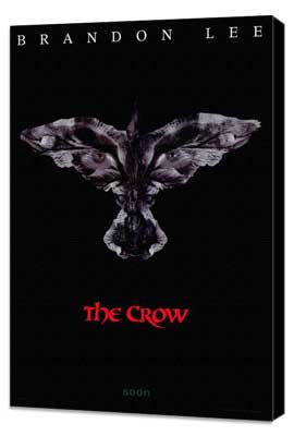 The Crow - 11 x 17 Movie Poster - Style D - Museum Wrapped Canvas