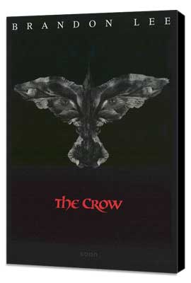 The Crow - 27 x 40 Movie Poster - Style B - Museum Wrapped Canvas