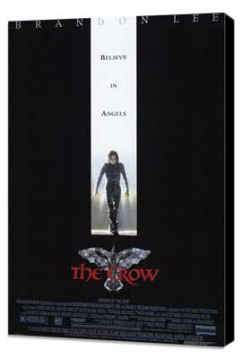 The Crow - 27 x 40 Movie Poster - Style A - Museum Wrapped Canvas