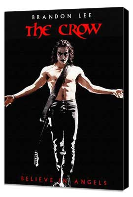 The Crow - 27 x 40 Movie Poster - Style E - Museum Wrapped Canvas
