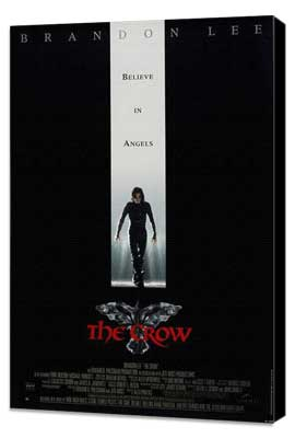 The Crow - 27 x 40 Movie Poster - UK Style A - Museum Wrapped Canvas