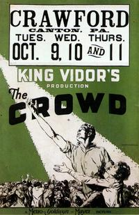 The Crowd - 43 x 62 Movie Poster - Bus Shelter Style A