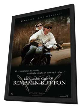 The Curious Case of Benjamin Button - 27 x 40 Movie Poster - Style D - in Deluxe Wood Frame