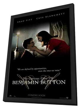 The Curious Case of Benjamin Button - 11 x 17 Movie Poster - Style F - in Deluxe Wood Frame