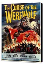 The Curse of the Werewolf - 11 x 17 Movie Poster - Style A - Museum Wrapped Canvas