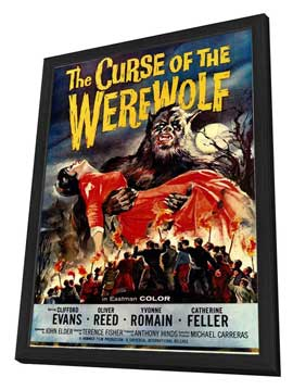 The Curse of the Werewolf - 11 x 17 Movie Poster - Style A - in Deluxe Wood Frame