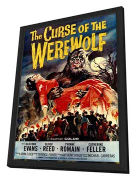 The Curse of the Werewolf - 27 x 40 Movie Poster - Style A - in Deluxe Wood Frame