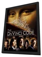 The Da Vinci Code - 27 x 40 Movie Poster - Style A - in Deluxe Wood Frame