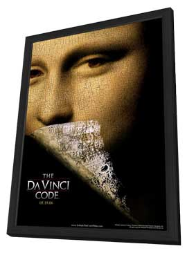 The Da Vinci Code - 11 x 17 Movie Poster - Style A - in Deluxe Wood Frame