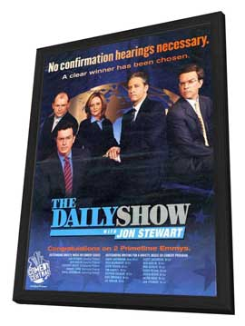 The Daily Show - 11 x 14 TV Poster - Style A - in Deluxe Wood Frame