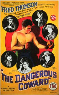 The Dangerous Coward - 43 x 62 Movie Poster - Bus Shelter Style A