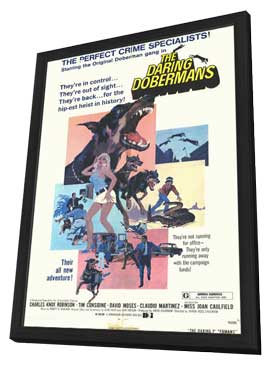 Daring Dobermans - 11 x 17 Movie Poster - Style A - in Deluxe Wood Frame