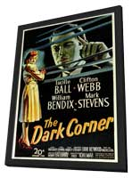 The Dark Corner - 11 x 17 Movie Poster - Style A - in Deluxe Wood Frame