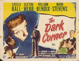 The Dark Corner - 22 x 28 Movie Poster - Half Sheet Style A