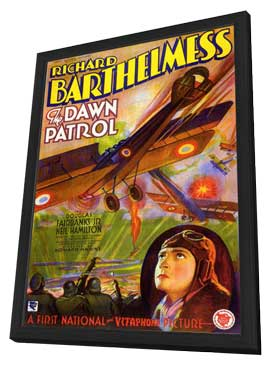 The Dawn Patrol - 11 x 17 Movie Poster - Style A - in Deluxe Wood Frame