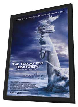 The Day After Tomorrow - 27 x 40 Movie Poster - Style B - in Deluxe Wood Frame